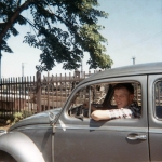1966 jerry in his VW in Germany