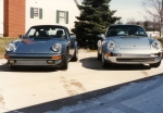 993 and blue 911 front