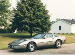 silver '85 corvette
