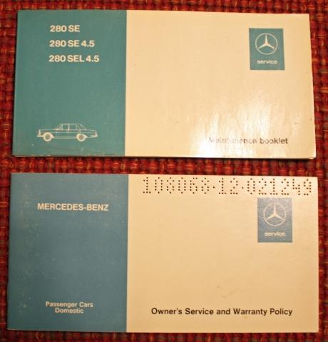 1-22-17 1973 MB 280SEL manuals 12