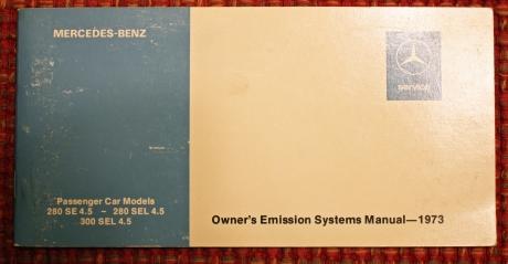 1-22-17 1973 MB 280SEL manuals 2