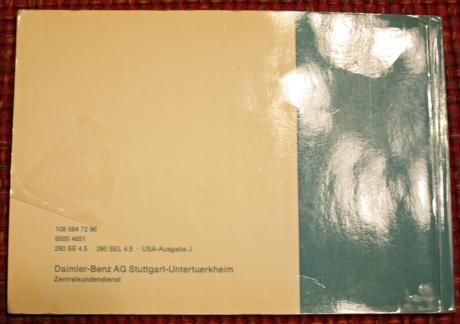 1-22-17 1973 MB 280SEL manuals 8