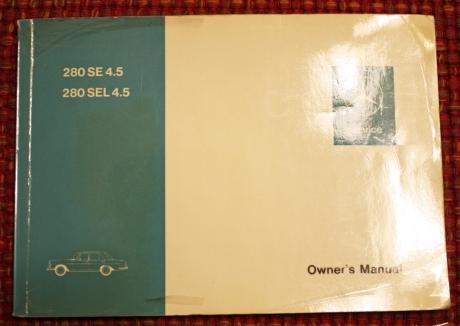 1-22-17 1973 MB 280SEL manuals 9